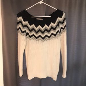 Chevron block sweater